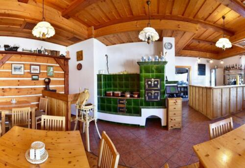 Interiér restaurace U Poláků